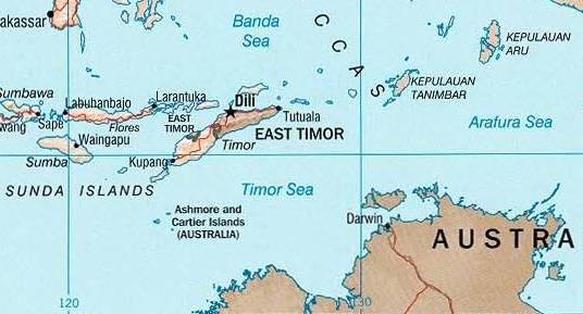 Timor Sea On Map