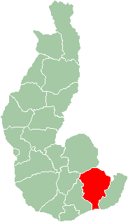 Map of Toliara Province showing the location of Amboasary (red).