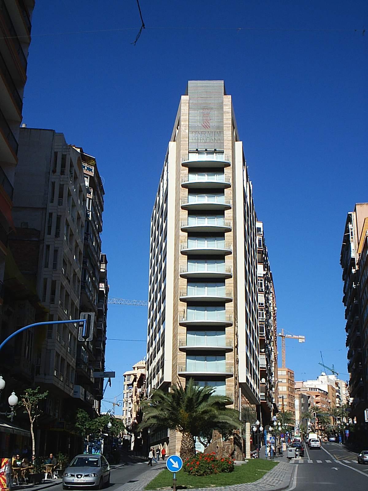 Provinčná veža v la rambla de alicante