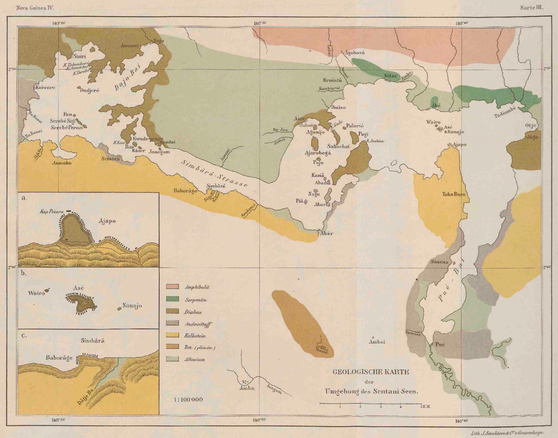ub utrecht - nova guinea vol 4 - karte 3 - geologische karte der umgebung des sentani-sees.jpg