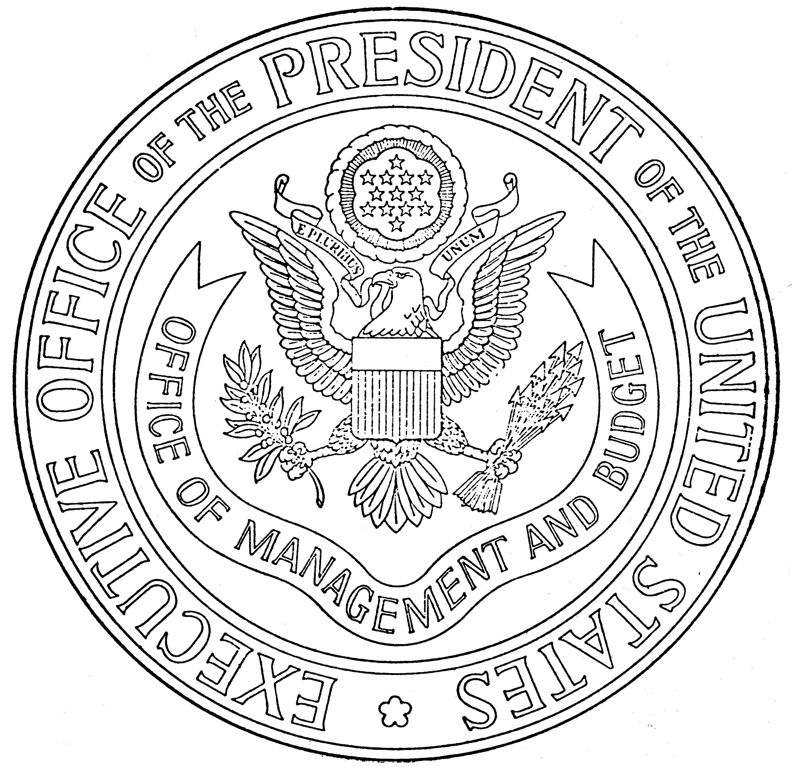 File Us Omb Seal Eo11600 Jpg Wikimedia Commons Presidential Seal Coloring Page