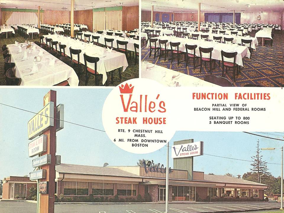 Valle S Steak House Headquarters Was In Newton Massachusetts