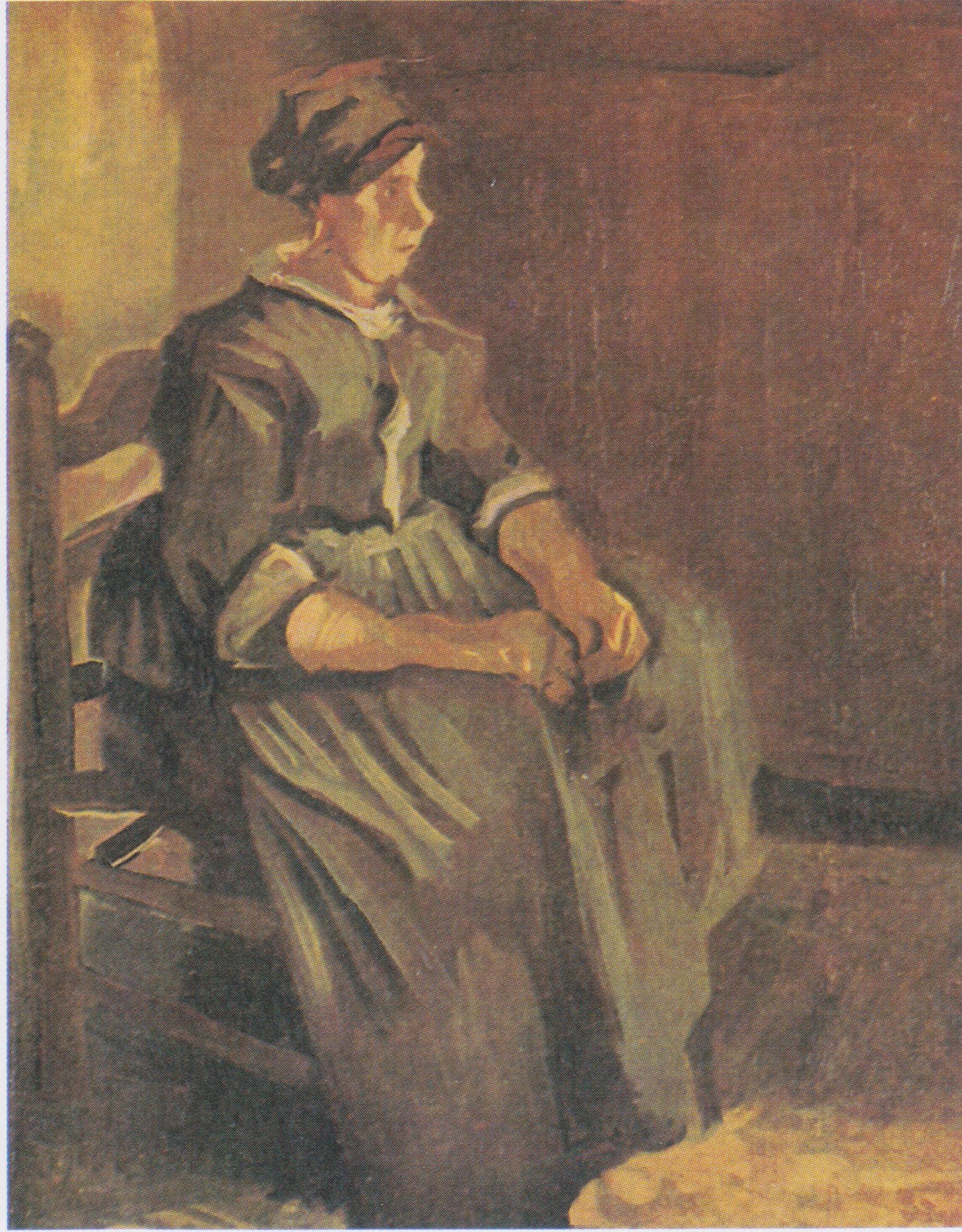 File Van Gogh Bäuerin Auf Einem Stuhl Sitzend