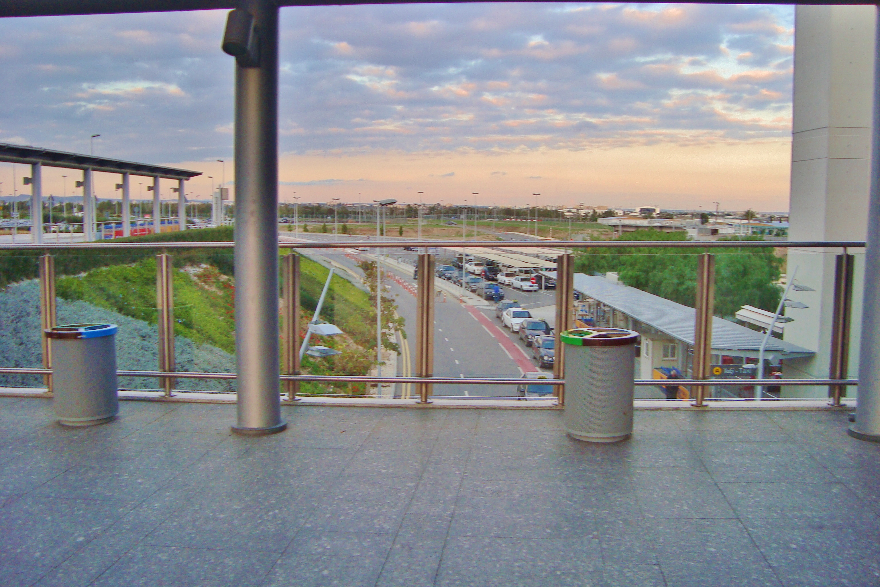 file view from the balcony of larnaca international