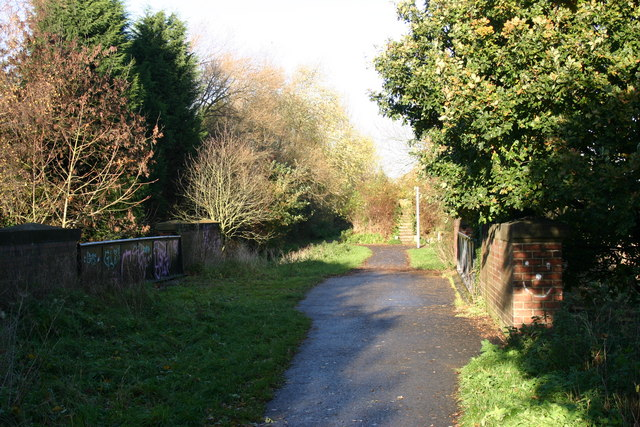 York to Selby railway path - geograph.org.uk - 285098