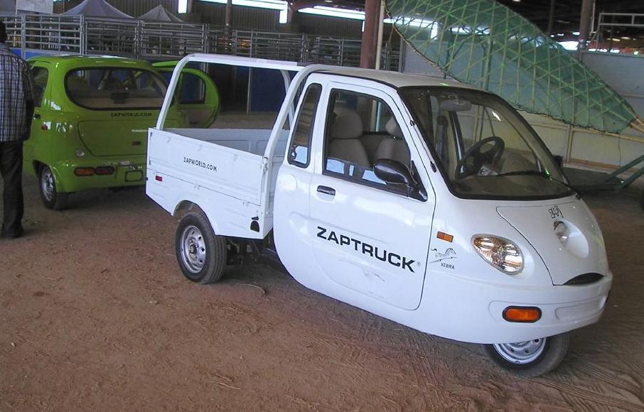 2006-2009. ZAP Xebra (Zap Zebra) - three-wheeled electric city ...