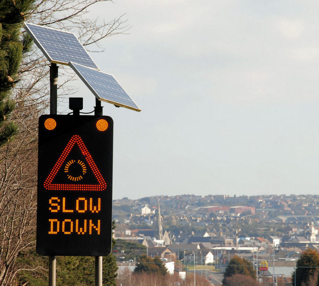 File Quot Slow Down Quot Sign Newtownards 2 Geograph Org Uk