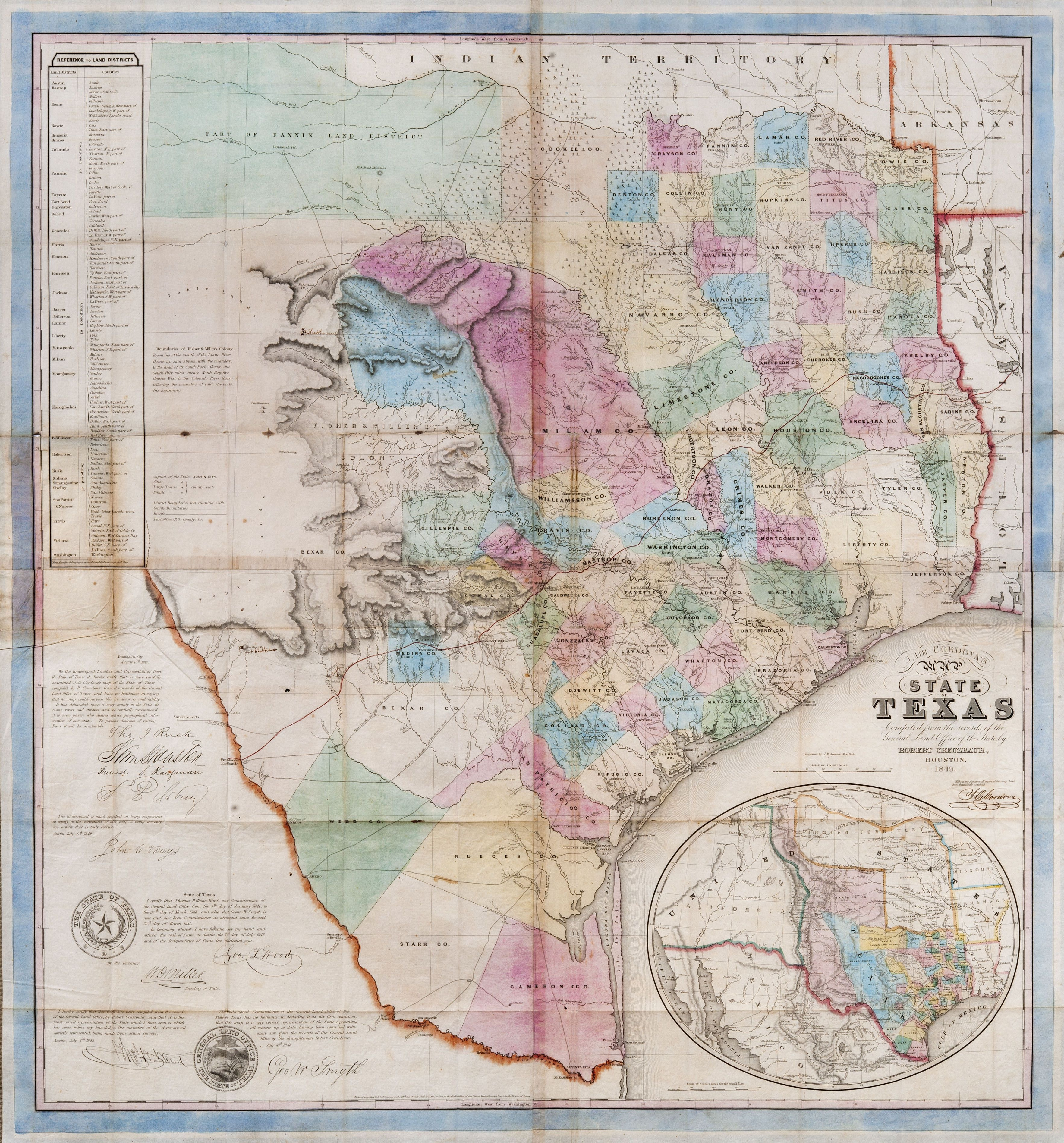 file 1849 de cordova map of the state of texas jpg wikimedia commons