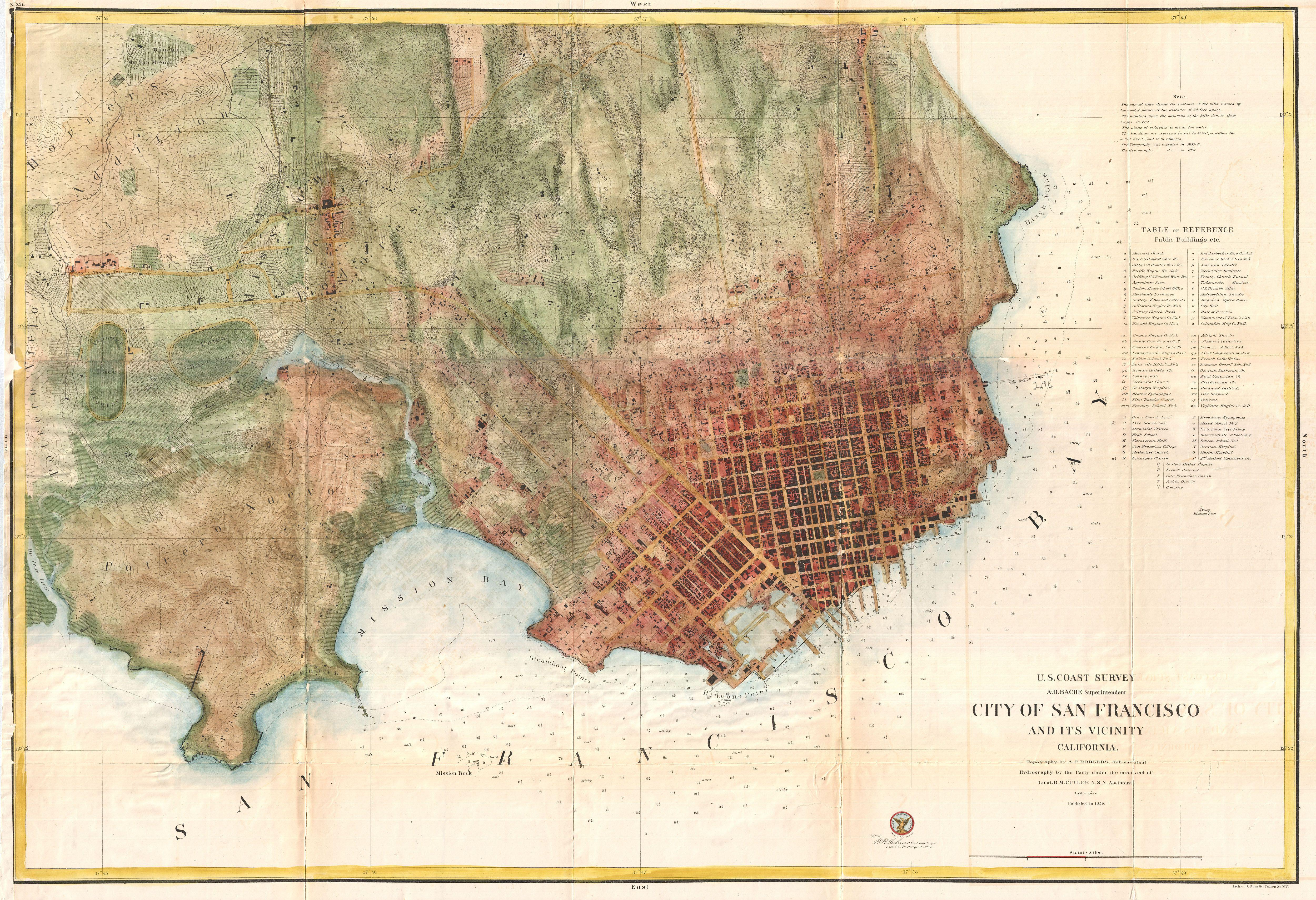 House hunters san francisco bay - This Map From 1860