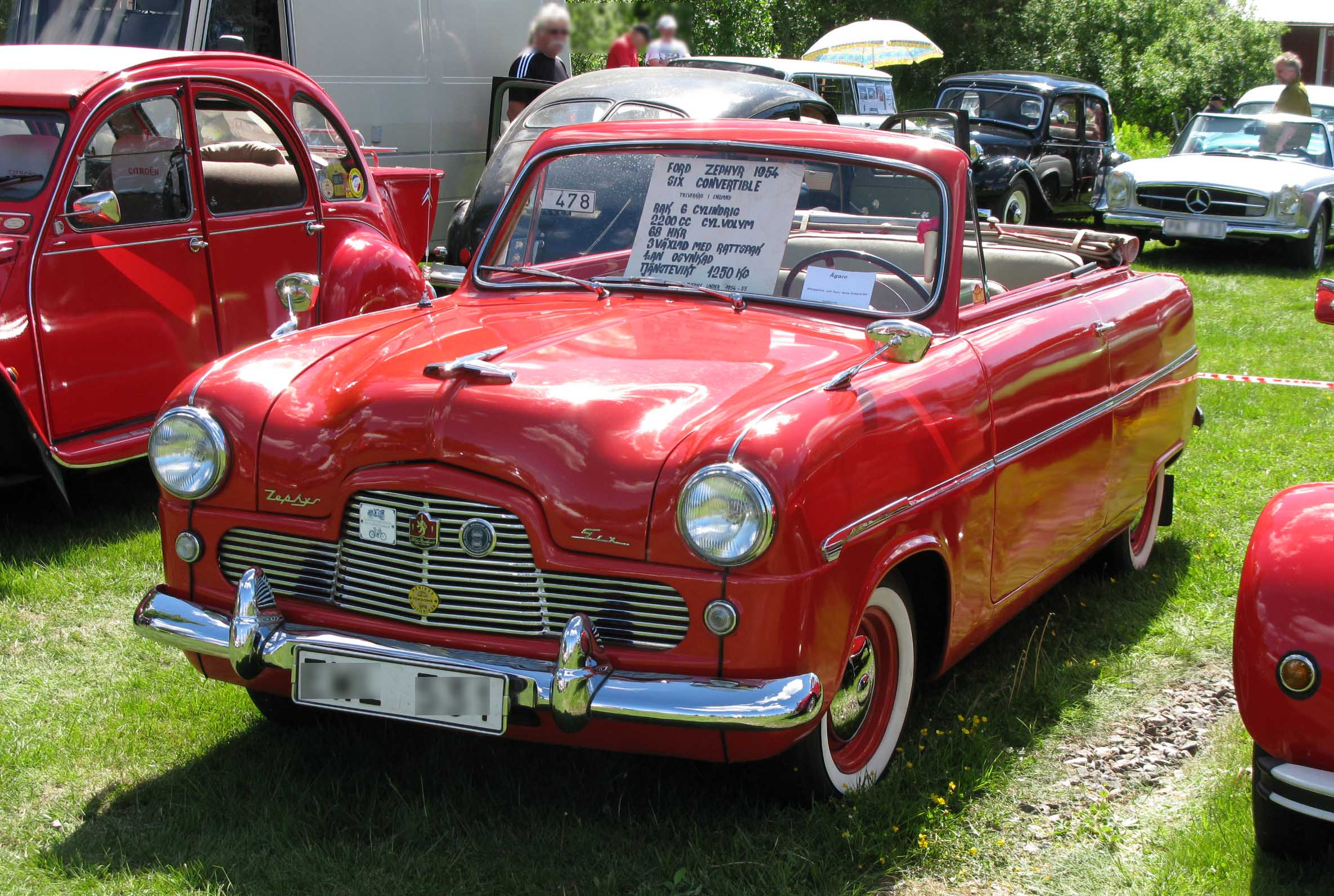 File 1954 Ford Zephyr Mk I conv front on mk2 cabriolet for sale
