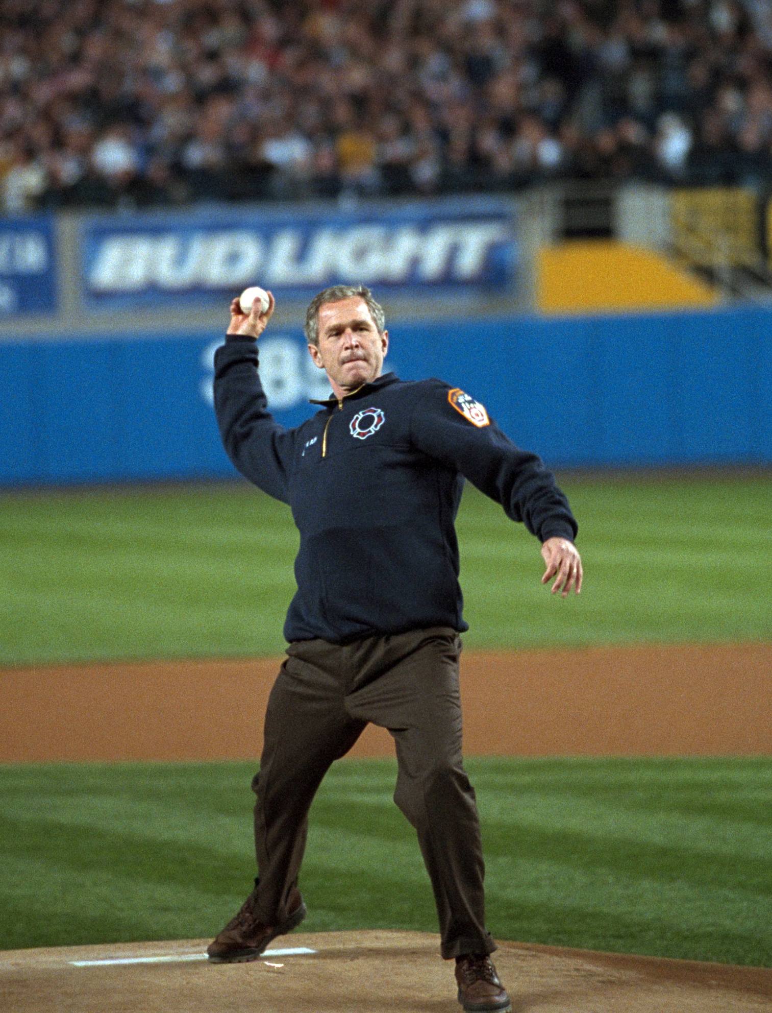 President Bush, 2001 World Series, Yankee Stadium