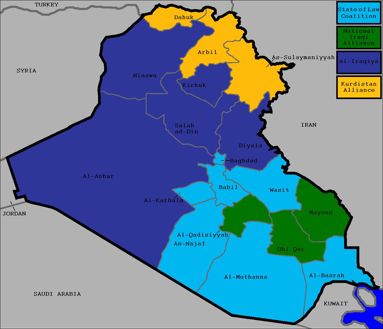 File:2010 Iraqi election map.png - Wikimedia Commons