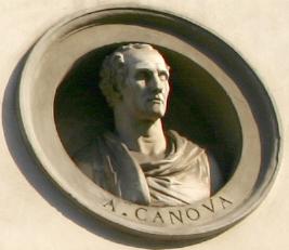 File:8815 Milano - Via Manzoni - Palazzo Brentani - Antonio Canova - Foto Giovanni Dall'Orto 14-Apr-2007.jpg