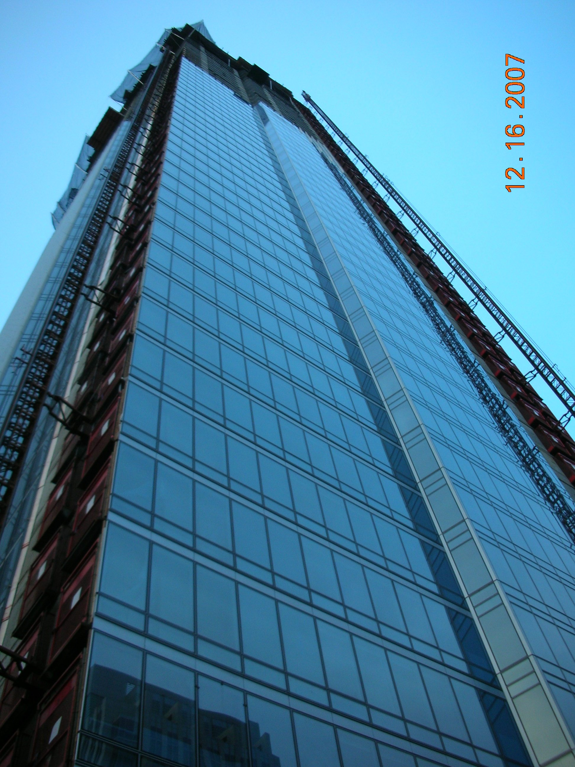 File A Closeup Shot Of The Curtainwall Glass Panels At The