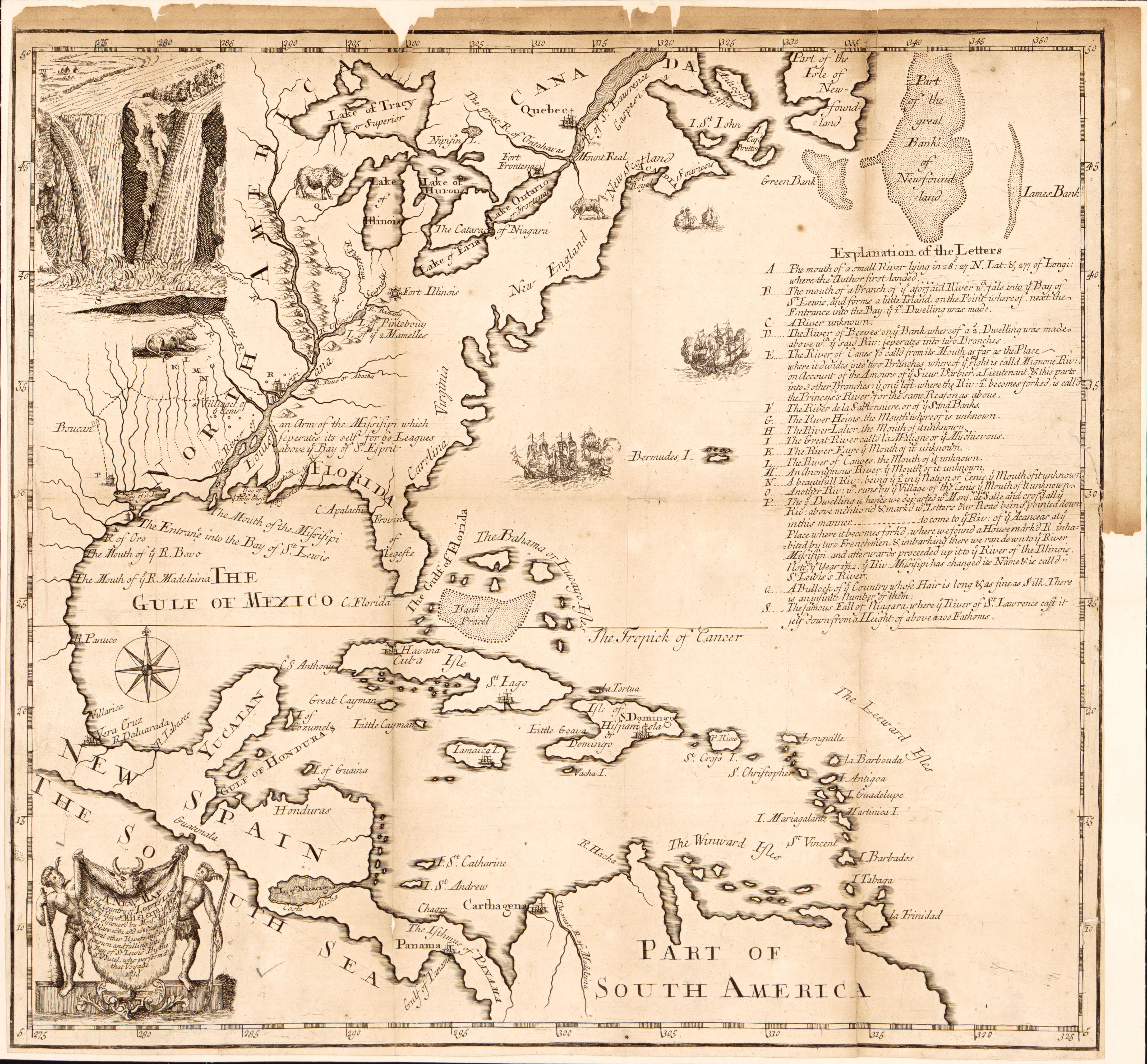 North Louisiana Map.File A New Map Of The Country Of Louisiana And Of Ye River Missisipi