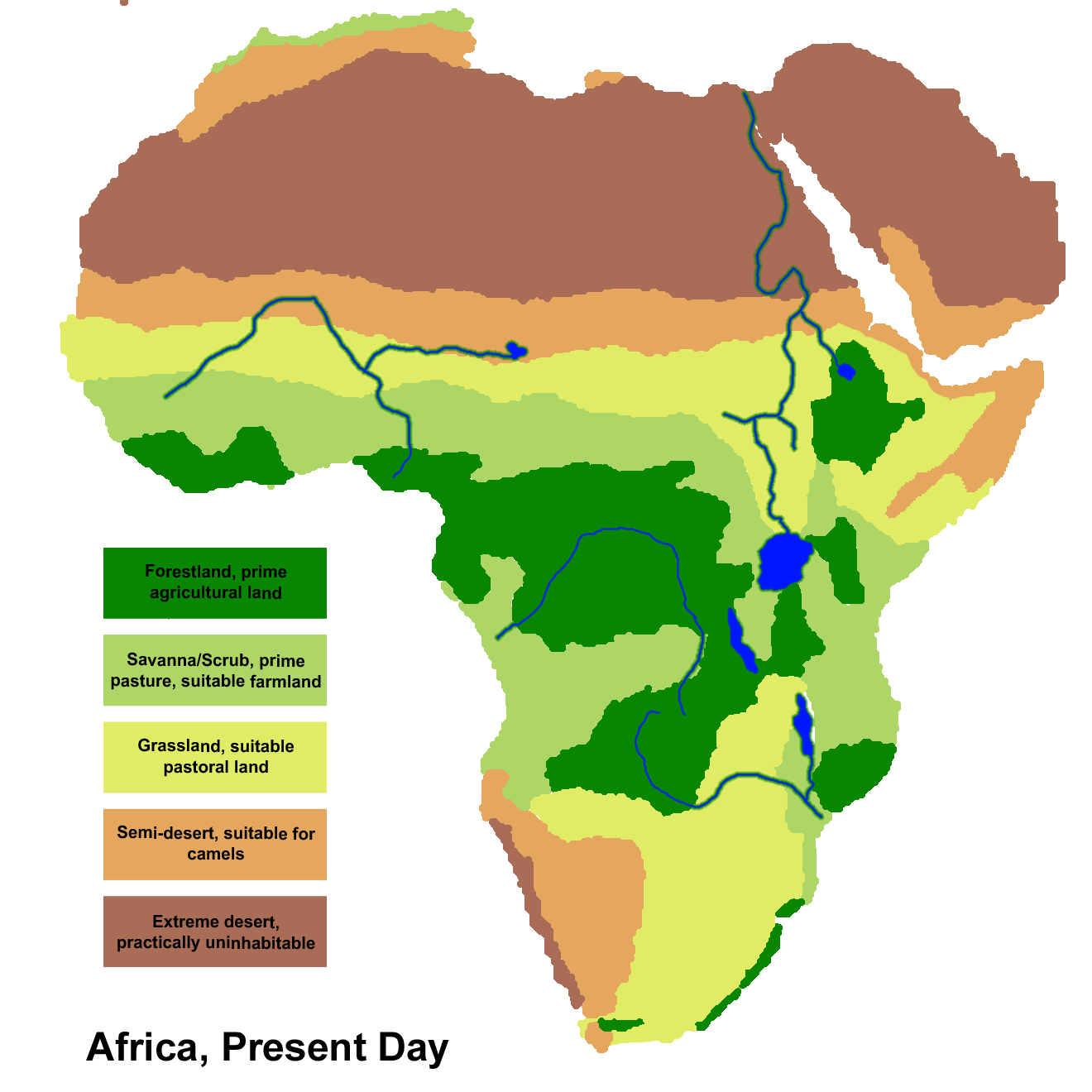 climate zones of africa map