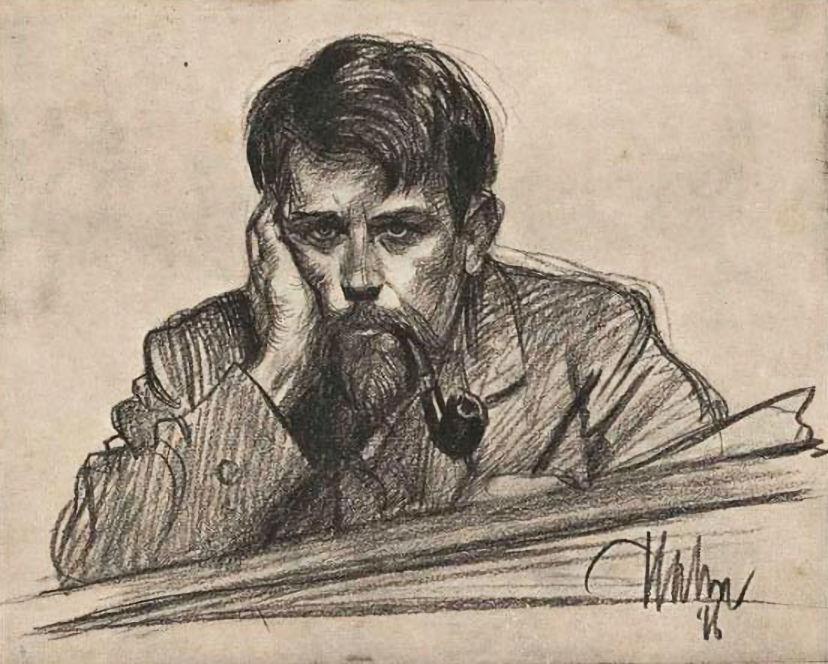 Albert Hahn (1877–1918) - zelfportret.jpg