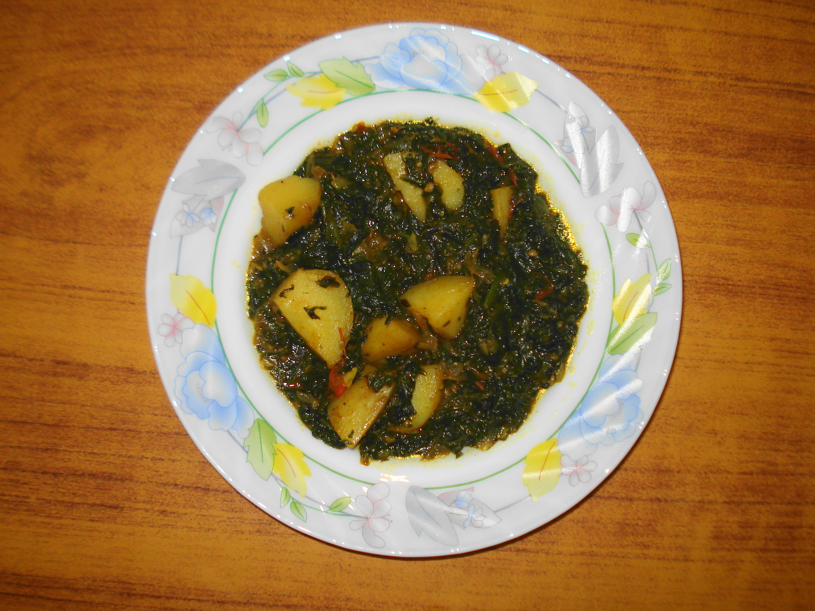 File:Aloo Palak (Spinach with Potatoes).JPG - Wikimedia Commons