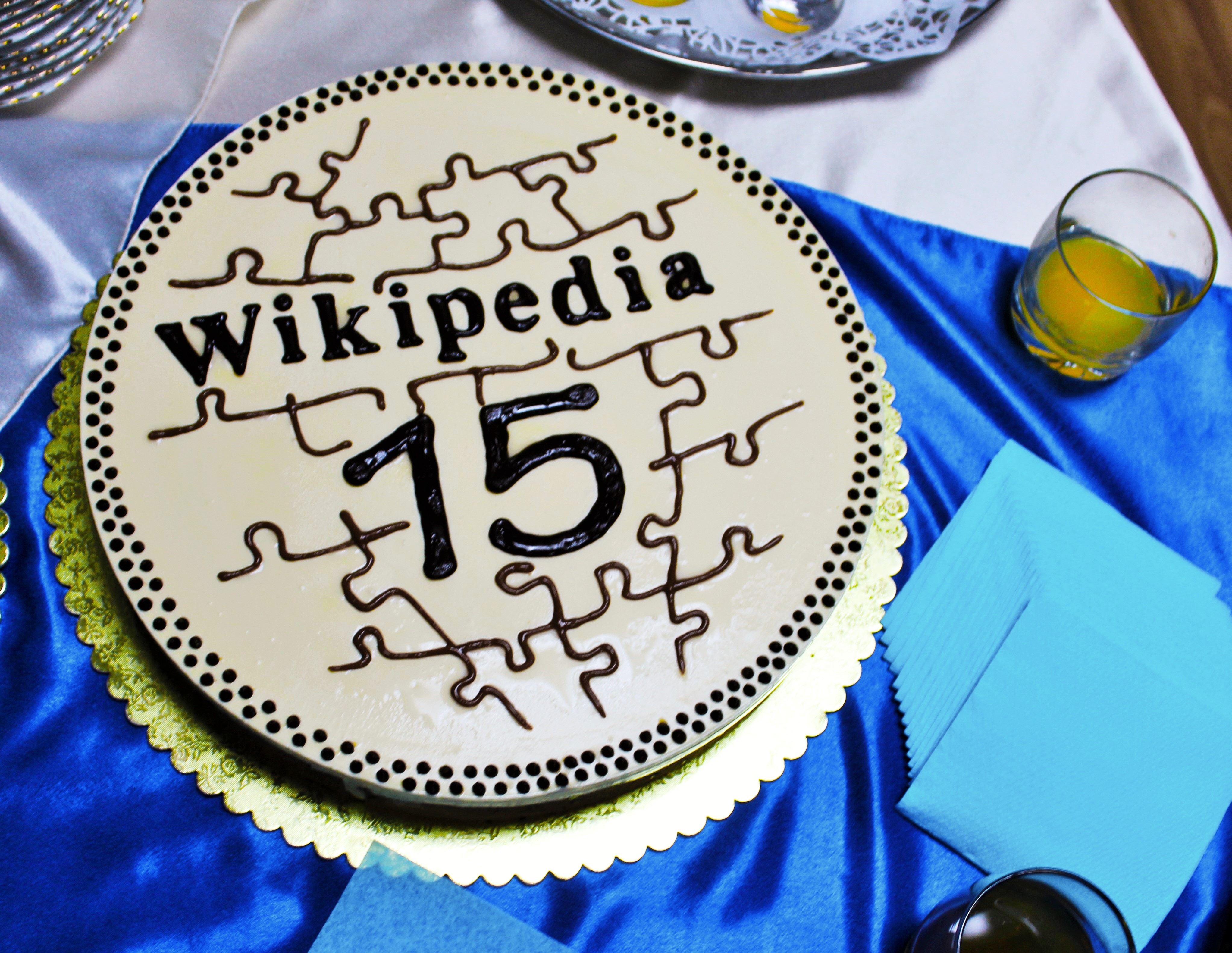Terrific File Armenian Wiki Birthday Cake 2016 02 Jpg Wikimedia Commons Funny Birthday Cards Online Aeocydamsfinfo