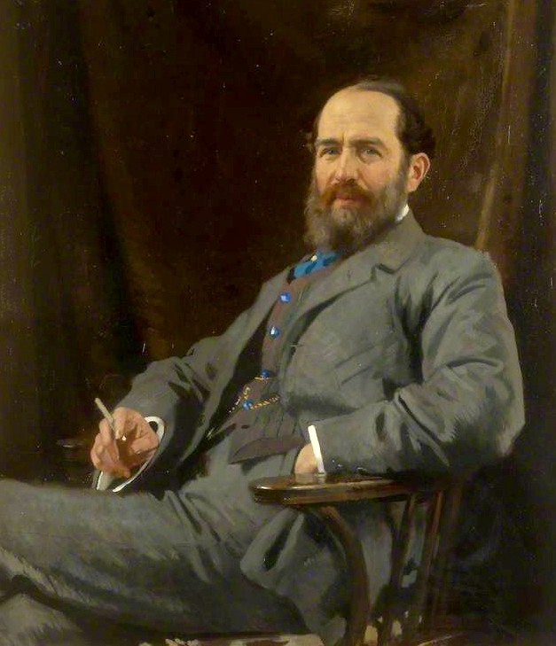 Sir Arthur Schuster, looking suitably Edwardian, in a 1912 portrait by William Orpen. He was the first to propose the duality of