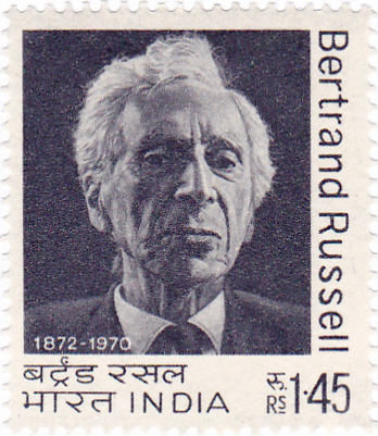 Russell on a 1972 stamp of India Bertrand Russell 1972 stamp of India.jpg