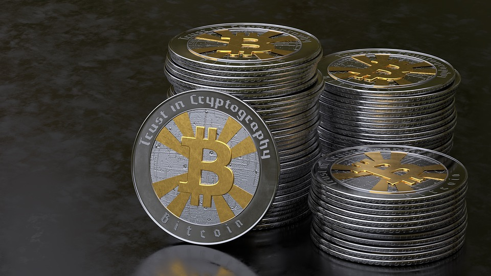 Bitcoin currency stack.jpg English: Bitcoin currency stack image Date 12 February 2017 Source https://pixabay.com/illustrations/bitcoin-coins-internet-2582593/
