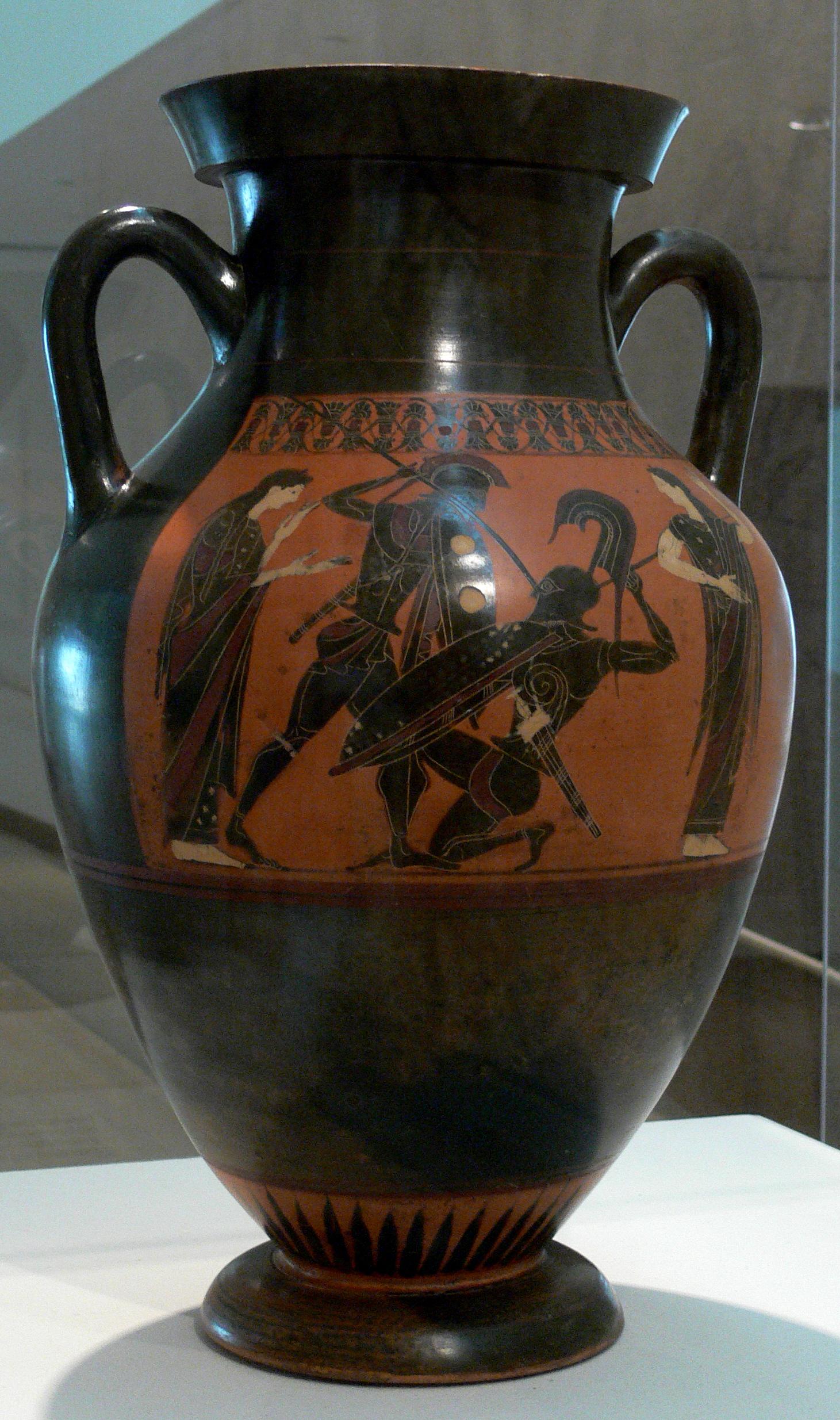 Black figure amphora