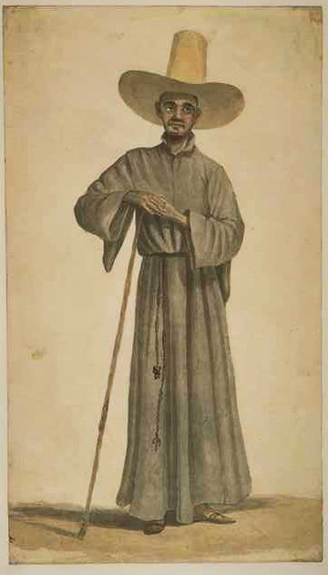 Jesuit in 18th century, Brazil Brazil 18thc JesuitFather.jpg
