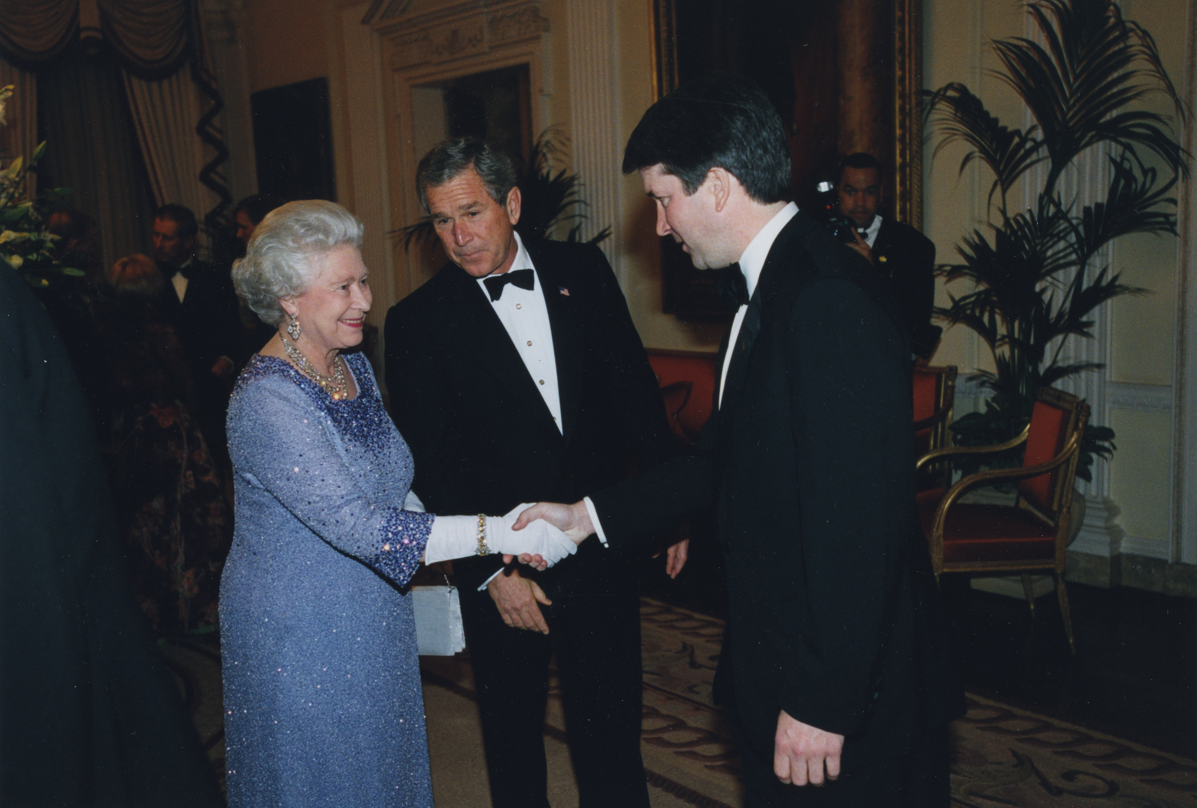 File Brett Kavanaugh With George W Bush And Queen Elizabeth Ii Jpg