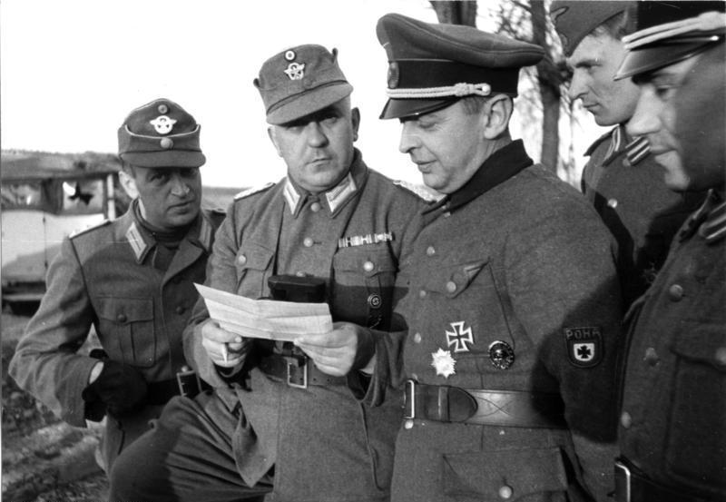 Файл:Bundesarchiv Bild 101I-280-1075-17A, Russland, Borislaw Kaminski, Besprechung mit Offizieren.jpg