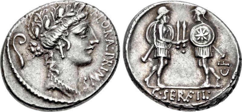 Nouveau(x) denier(s) de la gens Servilia C._Servilius_C.f.%2C_denarius%2C_53_BC%2C_RRC_423-1