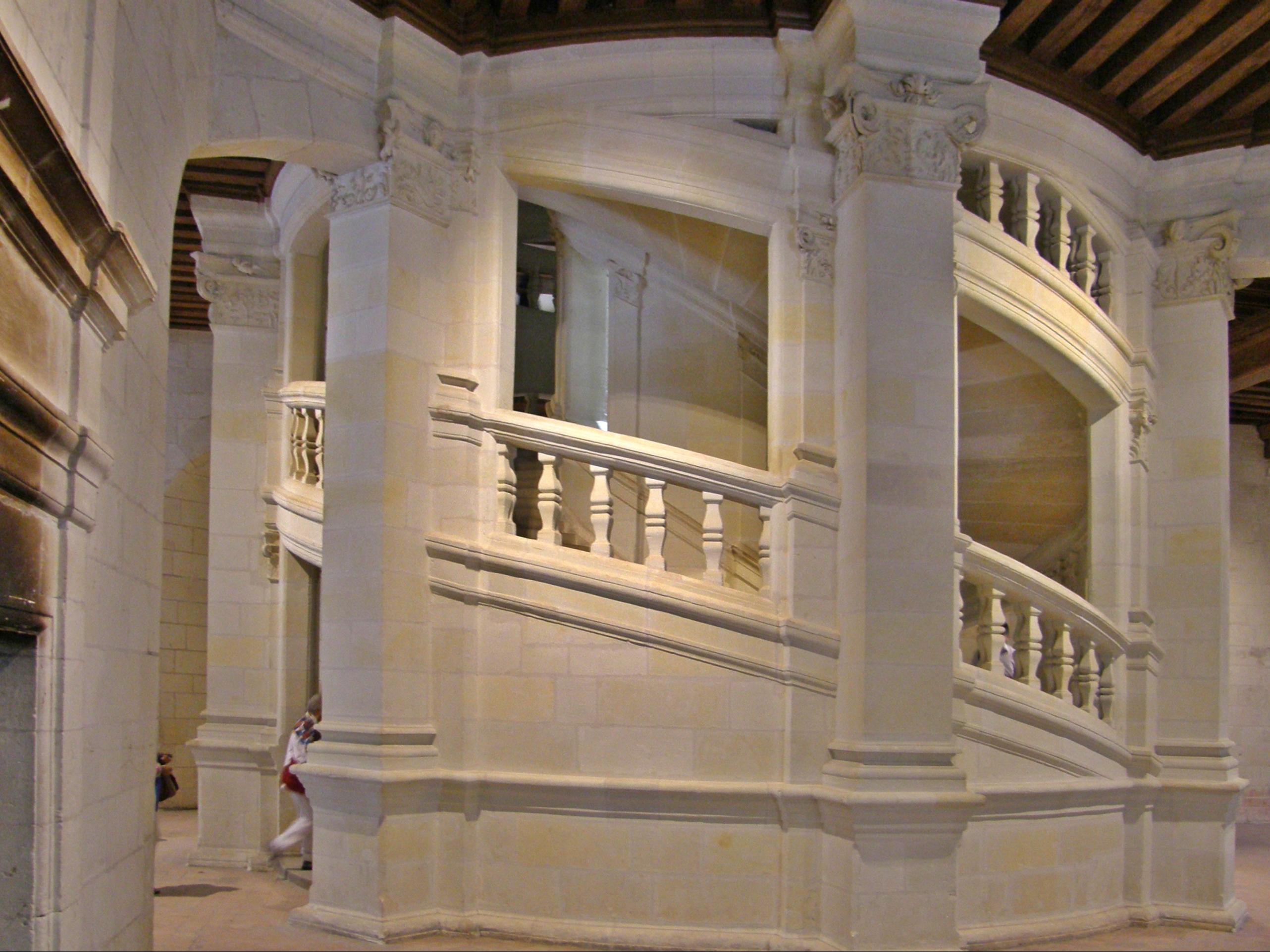 file ch teau de chambord l 39 escalier. Black Bedroom Furniture Sets. Home Design Ideas