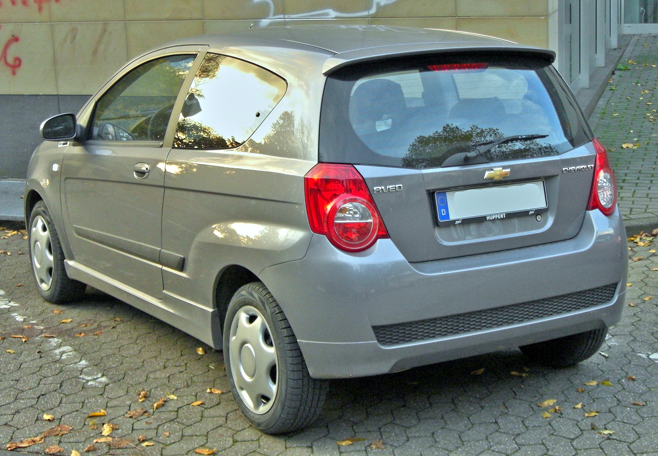 File Chevrolet Aveo Dreiturer Seit 2008 Rear Mj Jpg Wikimedia Commons