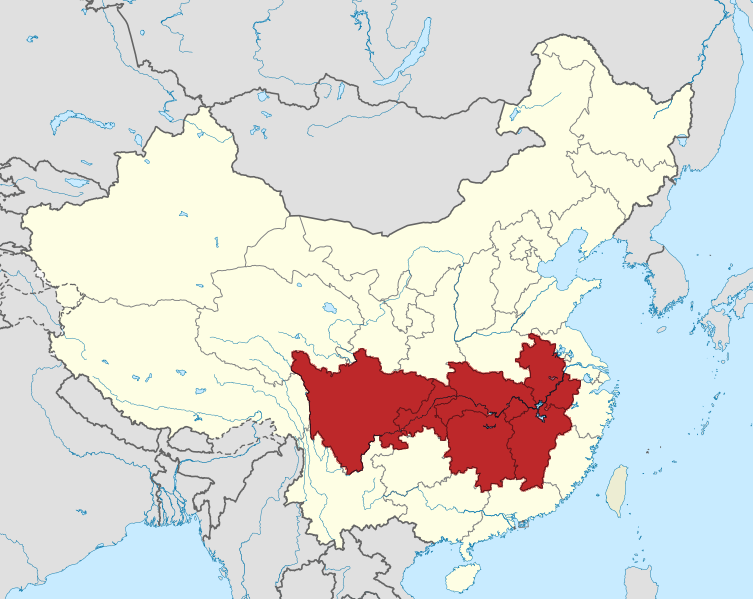 China Map Location on
