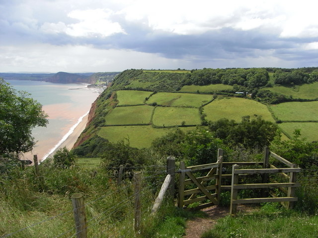 Coast Path east of Salcombe Mouth - geograph.org.uk - 871097
