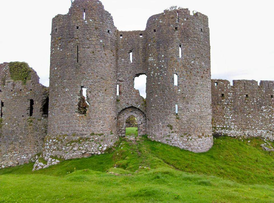 two towers at castle roche