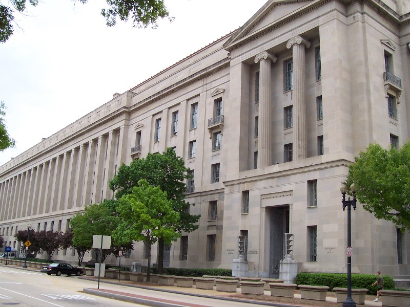 U.S. Department of Justice Building, Washington, D.C., wikipedia