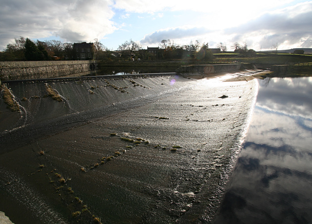 Double weir into Hury spillway - geograph.org.uk - 1584695