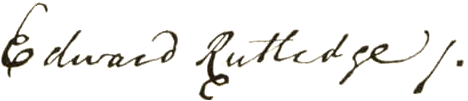 Edward Rutledge Signature