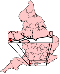 This map of England shows where Poole is.