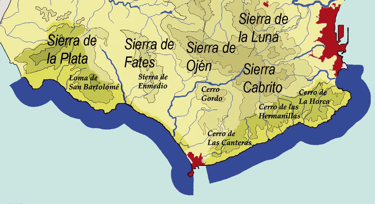 Mapa De Andalucía Físico.Archivo Estrecho Mapa Fisico Png Wikipedia La