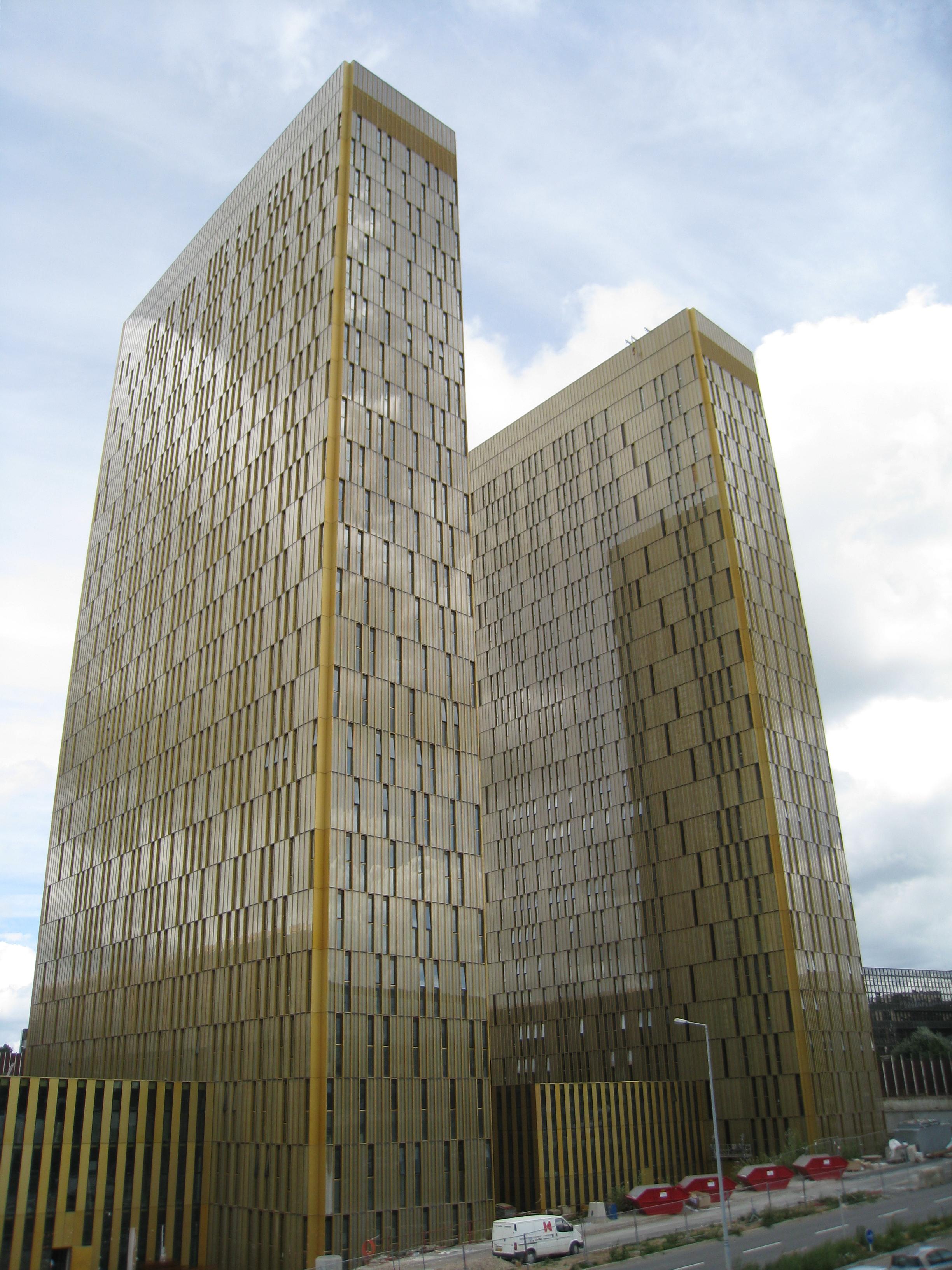 Torres del Tribunal de Justicia de la Unión Europea en [[Luxemburgo