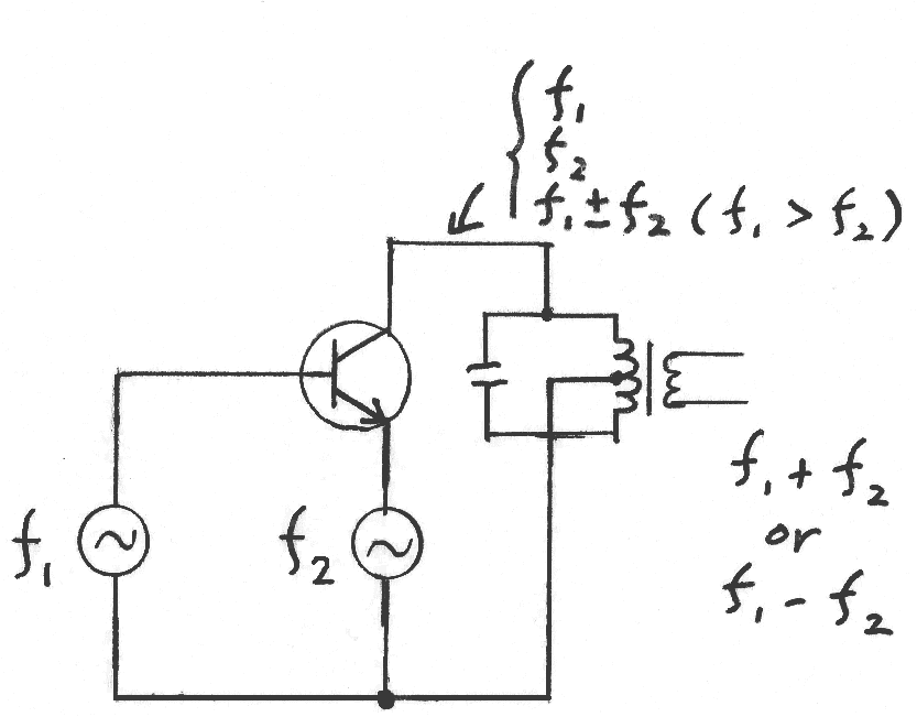 file frequency mixer circuit diagram  emitter injection