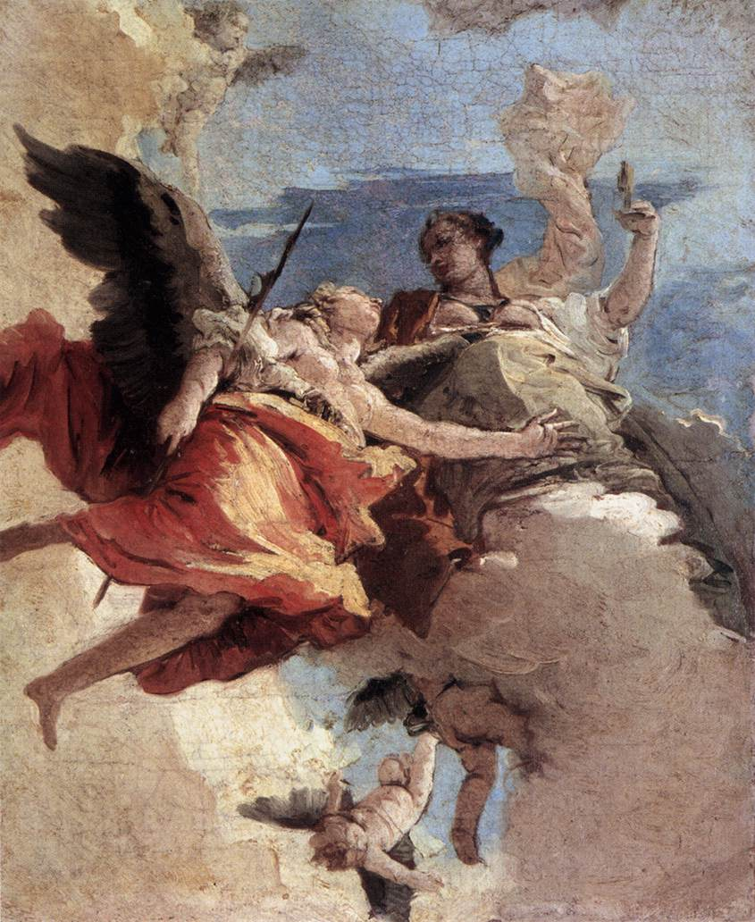 Allegory of Strength and Wisdom by Giovanni Battista Tiepolo