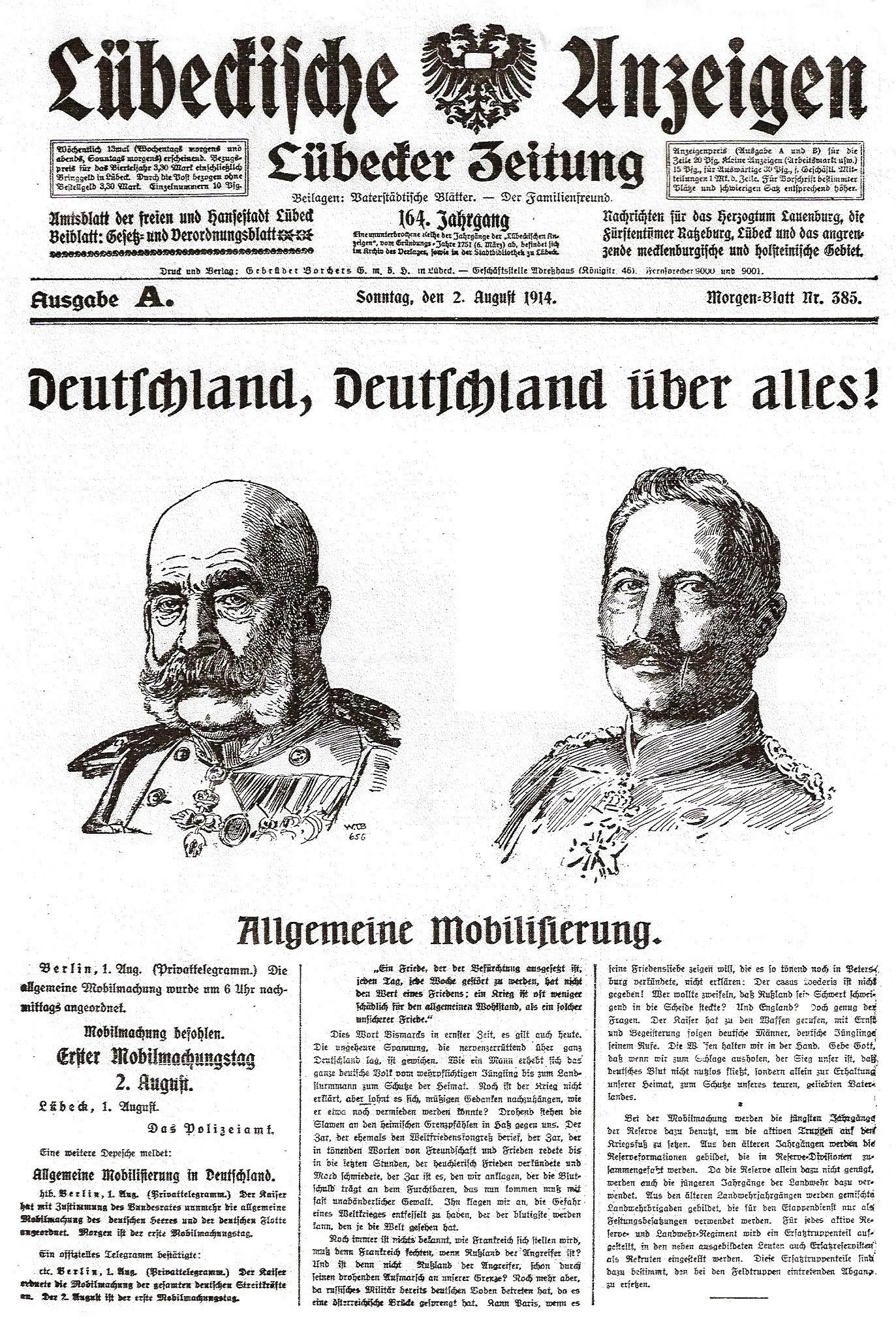 Deutsche Mobilmachung