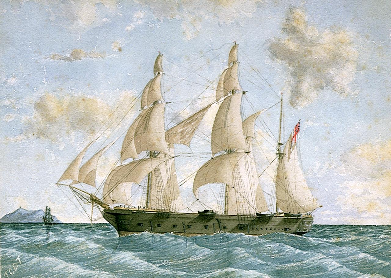 Île Saint-Paul : l'obsession de Lightoller HMS_Megaera_(1849)