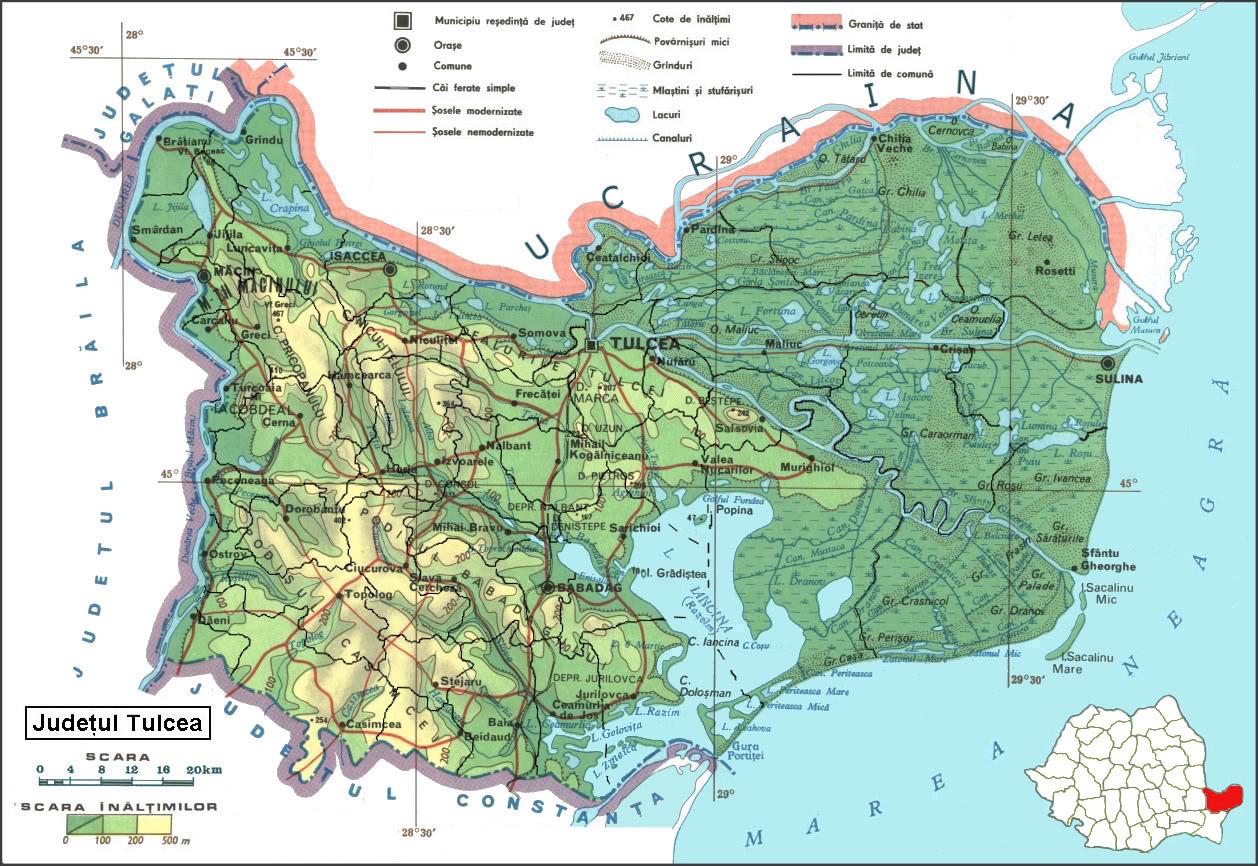 File Harta Judetului Tulcea Jpg Wikimedia Commons