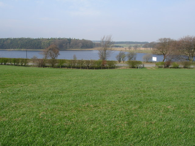 Hillend Reservoir from Nether Bracco Pasture - geograph.org.uk - 402160
