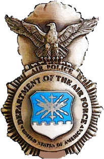 Former Air Police badge Historical USAF Air Police Badge.png