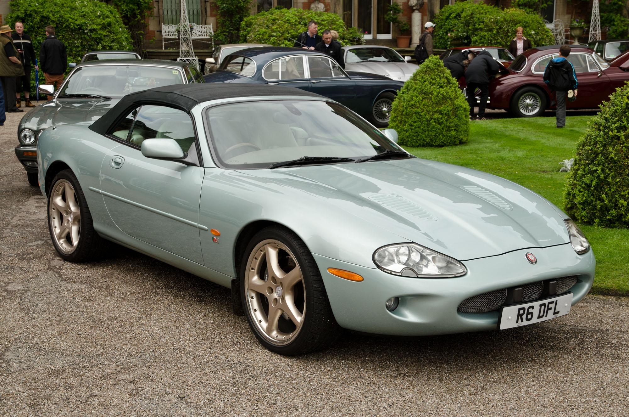 File Jaguar Xkr Convertible X100 In Light Blue Metallic Facing Right Jpg Wikimedia Commons